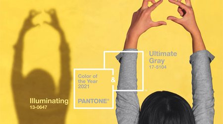 'Ultimate Grey' and 'Illuminating' Yellow Are Pantone's 2021 Colors of the Year